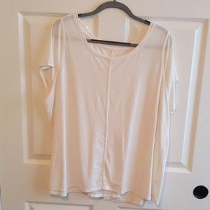 Short Sleeved Cream Dress Shirt